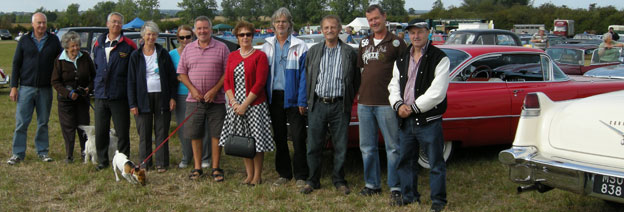 Club members at a show in Purleigh, Essex